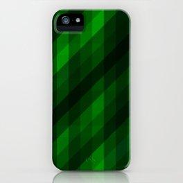 Weaving Green Diamonds Pattern iPhone Case
