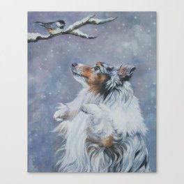 SHELTIE Shetland Sheepdog dog art from an original painting by L.A.Shepard Canvas Print