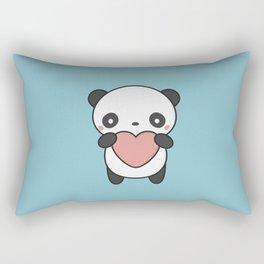 Kawaii Cute Panda With A Heart Rectangular Pillow