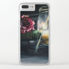 Royal Library Clear iPhone Case