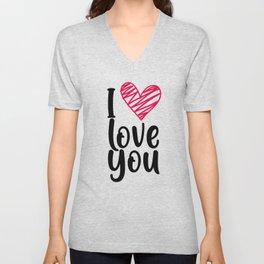 I love you 1 Unisex V-Neck