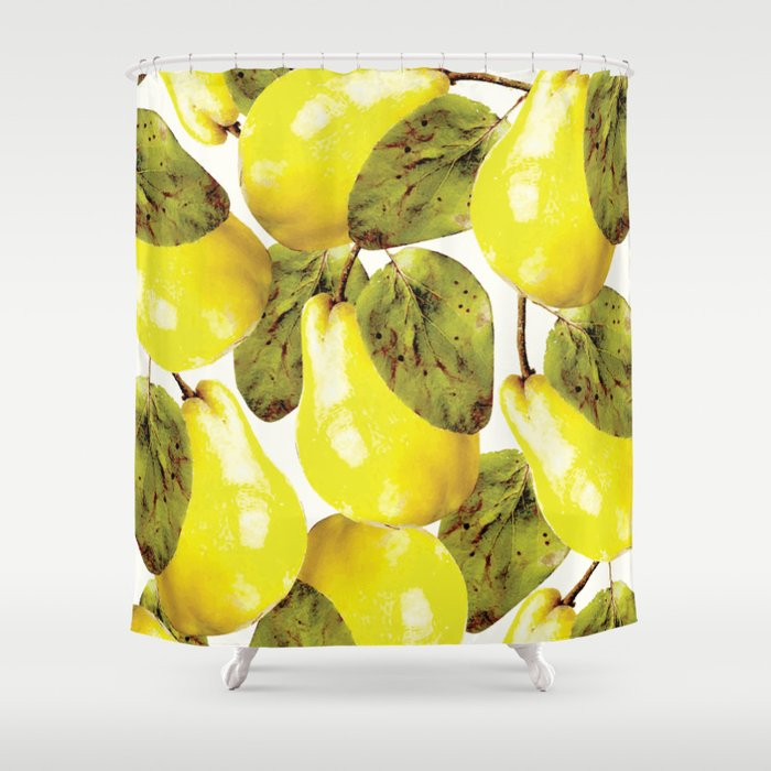 Pear pattern #society6 Shower Curtain