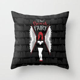The Book Fairy Throw Pillow