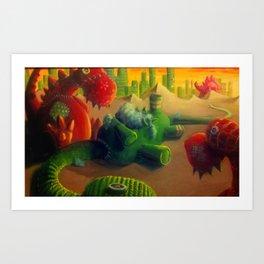 Cotton Eaters Art Print