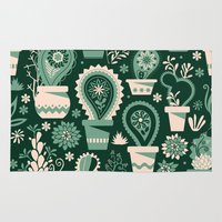 Paisley succulents Rug