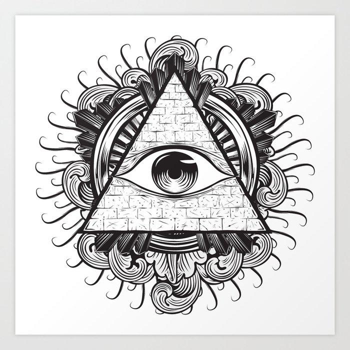 All Seeing Eye Art Print By E1shop