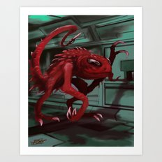 Space Monster Art Print