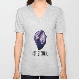 Get Stoned - Amethyst Unisex V-Neck