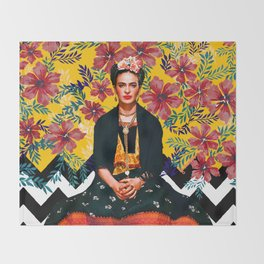 Frida Tropical Throw Blanket