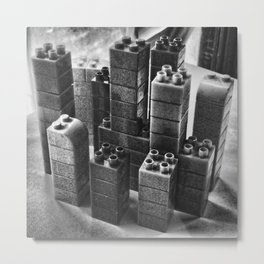 Playing in the city of bricks and stones Metal Print