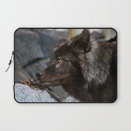 Black Wolf Laptop Sleeve