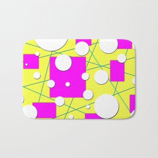 Geo Shape Play in Summertime Colors Bath Mat
