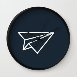 Paper Airplane Wall Clock