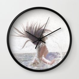 Feeling the Energy of the Sea by OLena Art Edit Wall Clock