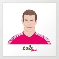 real madrid Art Prints featuring GARETH BALE - REAL MADRID by THE CHAMPION'S LEAGUE'S CHAMPIONS