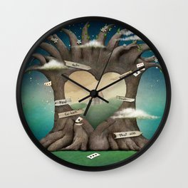 Gate Tree Love Palace Dream Wall Clock