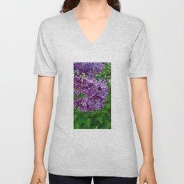Lilac Blooms Unisex V-Neck