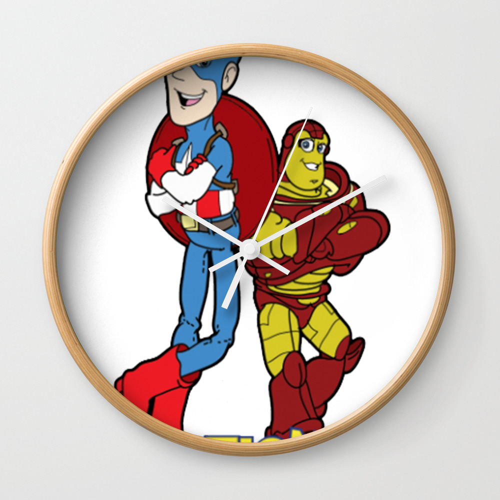 Action Figures Wall Clock by Moahihiheo CLK7756853