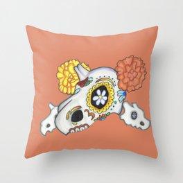 Dia de los Muertos (Cubone) Throw Pillow
