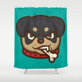 Rottie Pupper Shower Curtain