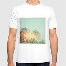 Winter Trees Mens Fitted Tee White MEDIUM