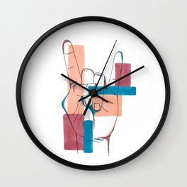Rock on! (Hand Sign) Wall Clock