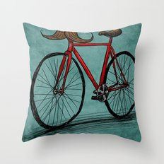 Baffi Bici Throw Pillow