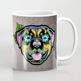 Rottweiler - Day of the Dead Sugar Skull Dog Coffee Mug