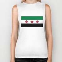 "islam Biker Tanks featuring Syrian ""independence flag""  High quality authentic color and scale version by Bruce Stanfield"