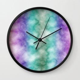 Rainbow marble texture 7 Wall Clock