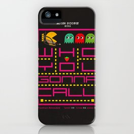pacman ghostbuster iPhone Case