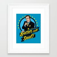 better call saul Framed Art Prints featuring Better Call Saul by Akyanyme