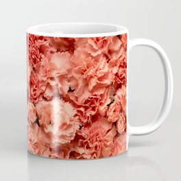 Coral Carnations Coffee Mug