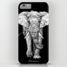 African Elephant - Black Background Slim Case iPhone 6s Plus