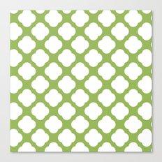 Cute Greenery and white Canvas Print
