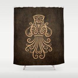 Vintage Rustic Aquarius Zodiac Sign Shower Curtain