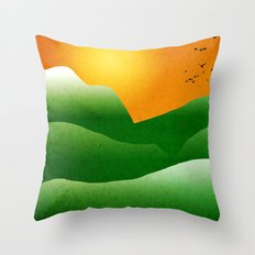 Mountain Sunrise Landscape Throw Pillow