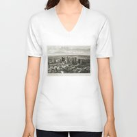 melbourne V-neck T-shirts featuring Melbourne City by Ewan Arnolda