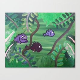 Bernard the Jungle Fish Canvas Print
