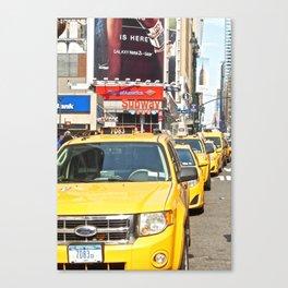 Midtown Manhattan Cabs Canvas Print