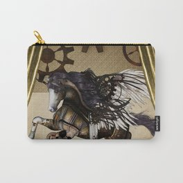 Wonderful dark steampunk unicorn with wings Carry-All Pouch