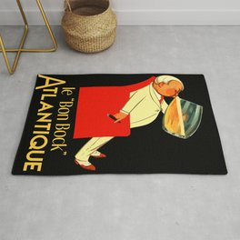 Retro French beer ad Le Bon Bock Rug