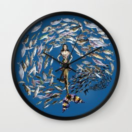 Mermaid in Monaco Wall Clock