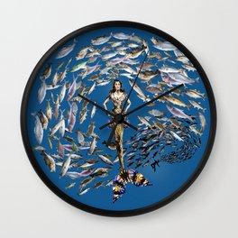 Mermaid in Monaco Wall Clock