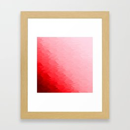 Red Texture Ombre Framed Art Print