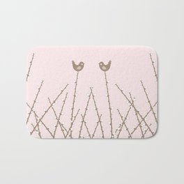 Spring Willow Twig and birds Bath Mat