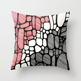 Piedras Rayadas 1 Throw Pillow