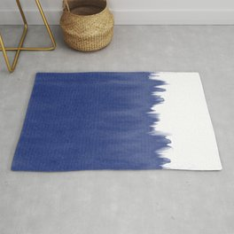 Indigo Blue Dip Dye Rug