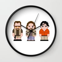 lebowski Wall Clocks featuring The Big Lebowski  by PixelPower