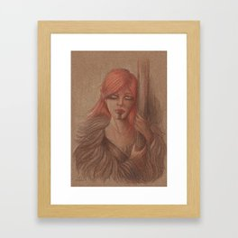 Female Warrior Framed Art Print